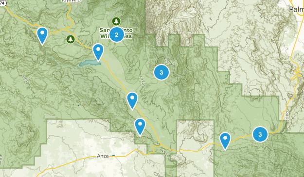 Mountain Center, California Wild Flowers Map