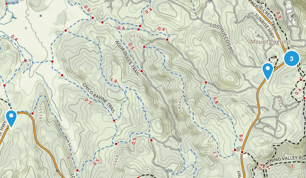 Mt Laguna, California Hiking Map