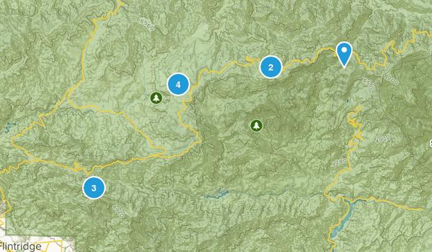 Mt Wilson, California Camping Map