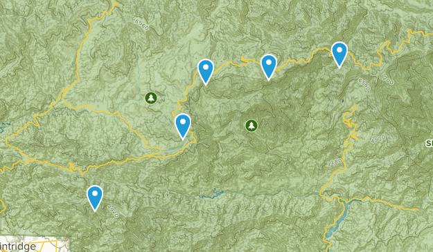 Mt Wilson, California Trail Running Map