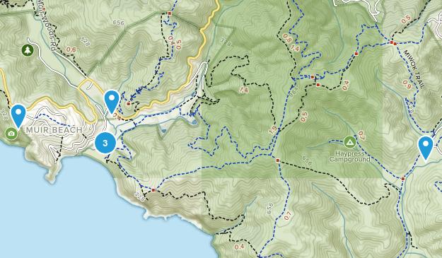 Muir Beach, California Hiking Map