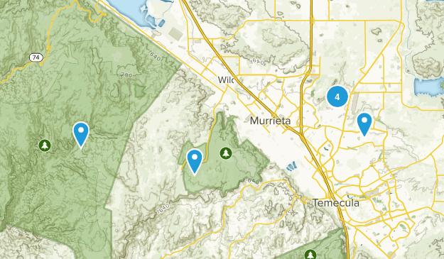 Murrieta, California Dogs On Leash Map