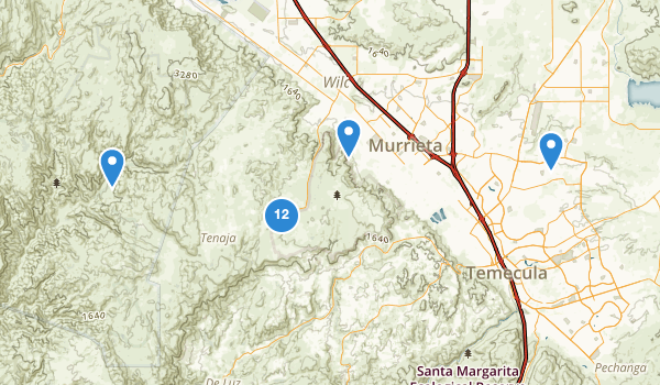 trail locations for Murrieta, California
