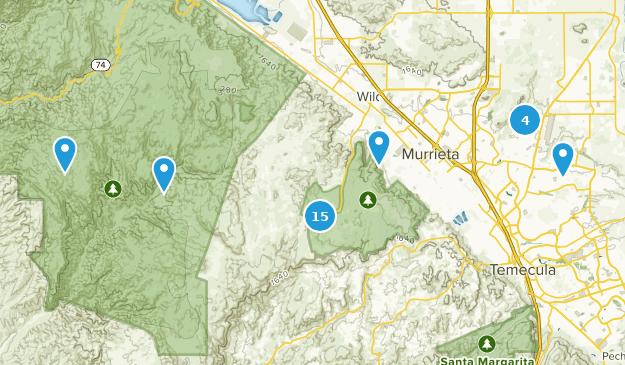 Murrieta, California Hiking Map
