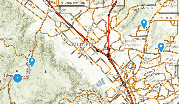 Murrieta, California Mountain Biking Map