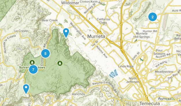 Murrieta, California Trail Running Map