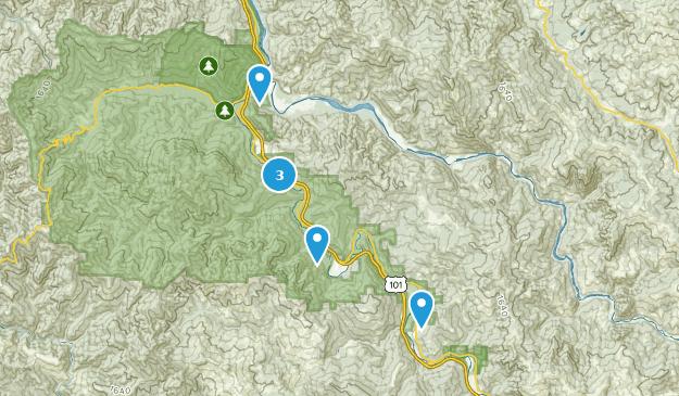 Myers Flat, Kalifornien Bird Watching Map