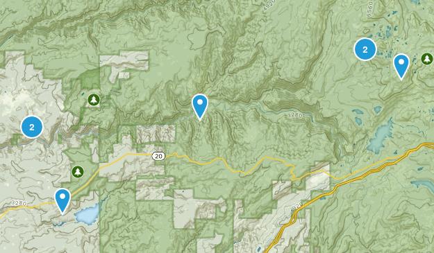 Nevada City, California Backpacking Map