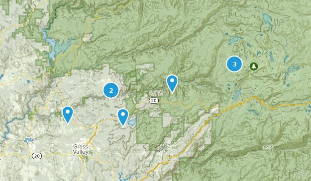 Nevada City, California Camping Map