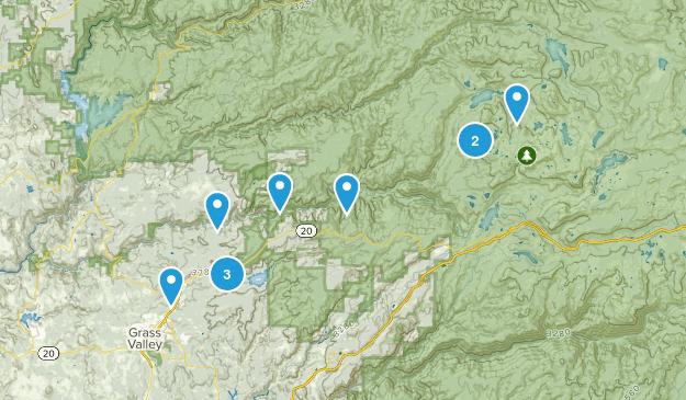 Nevada City, California Mountain Biking Map