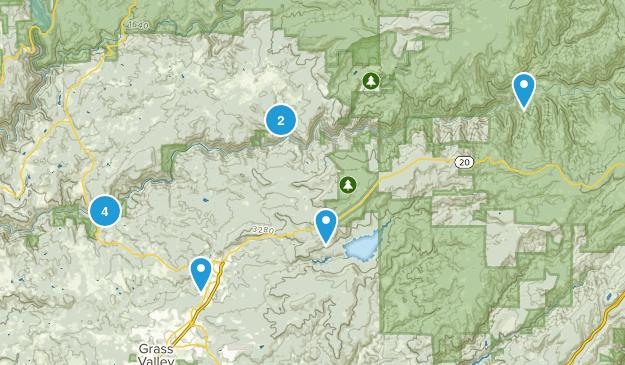Nevada City, California River Map