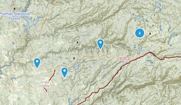Nevada City, California Trail Running Map