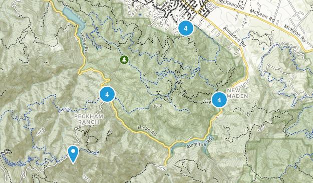 New Almaden, California Wild Flowers Map