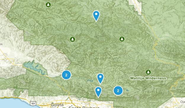 New Cuyama, California Dogs On Leash Map