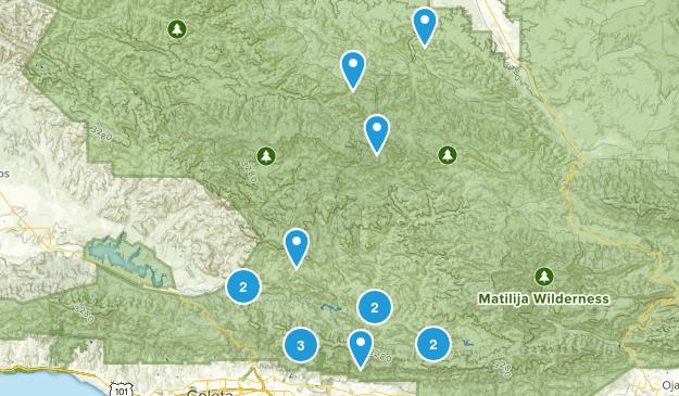 New Cuyama, California Hiking Map