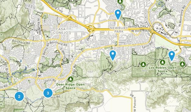Newbury Park, California Kid Friendly Map