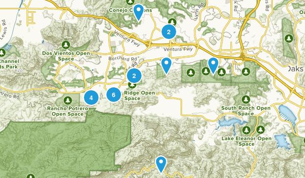 Newbury Park, California Nature Trips Map