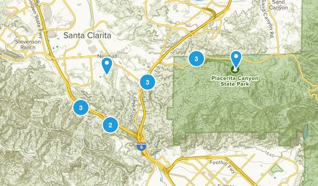 Newhall, California Birding Map