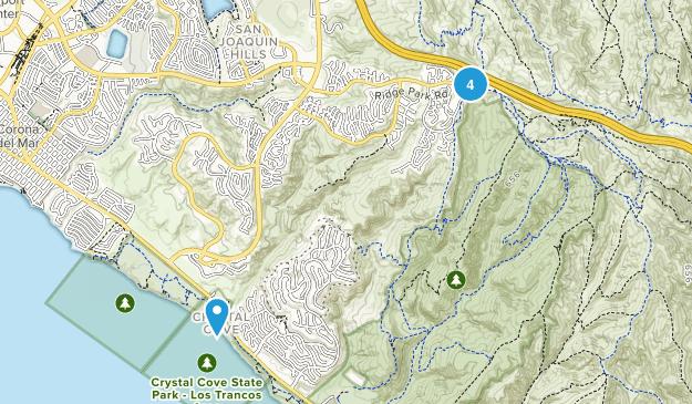 Newport Coast, California Hiking Map