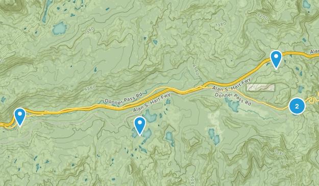Norden, California Forest Map