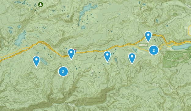 Norden, California Hiking Map