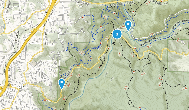 North Auburn, California Birding Map