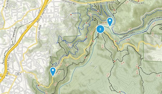 North Auburn, California Hiking Map