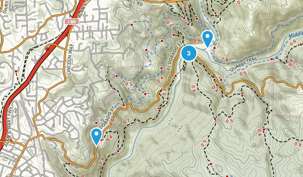 North Auburn, California Walking Map