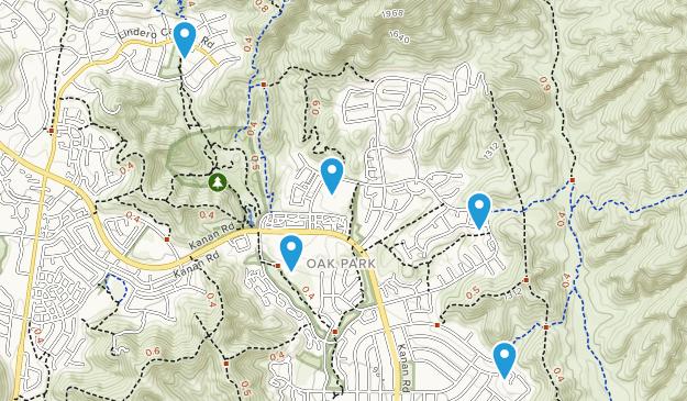 Oak Park, California Trail Running Map