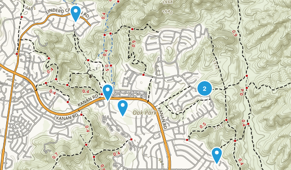 Oak Park, California Walking Map