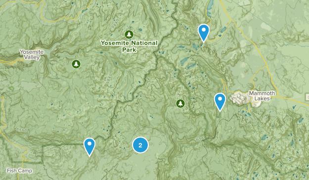 Oakhurst, California Backpacking Map