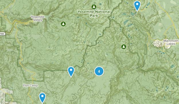 Oakhurst, California Camping Map