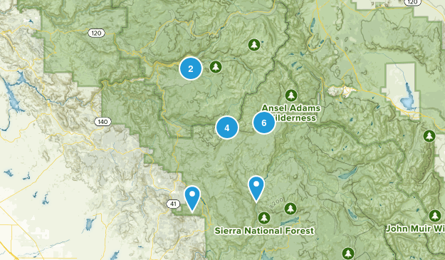 Oakhurst, California Lake Map