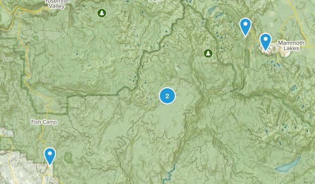 Oakhurst, California Trail Running Map