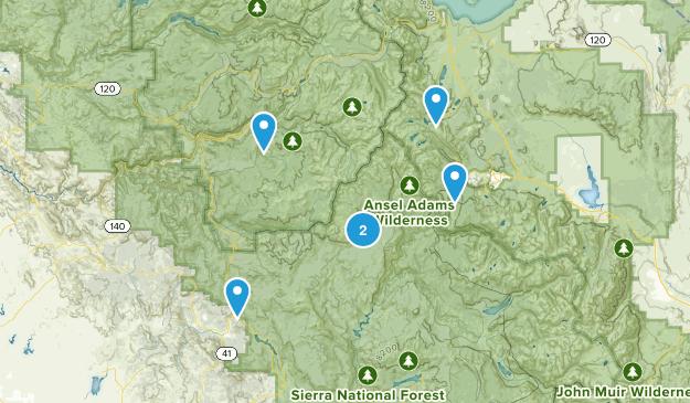 Oakhurst, California Waterfall Map
