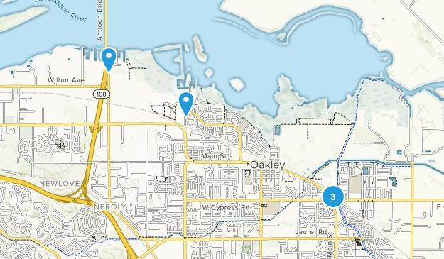 Oakley, California Walking Map