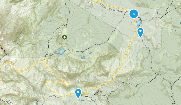 Old Station, California Backpacking Map