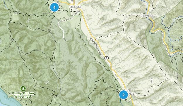 Olema, California Wildlife Map