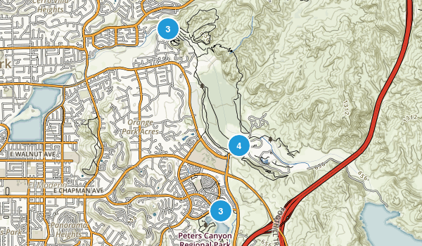 Orange, California Mountain Biking Map