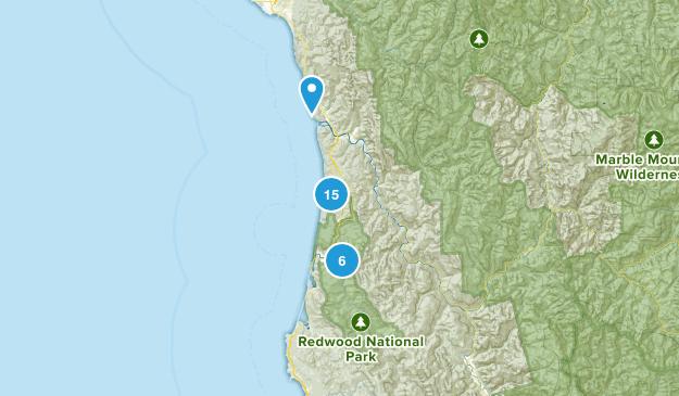 Orick, California Birding Map
