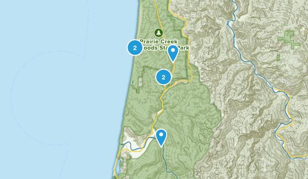Orick, California Camping Map