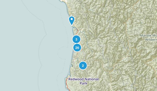 Orick, California Hiking Map