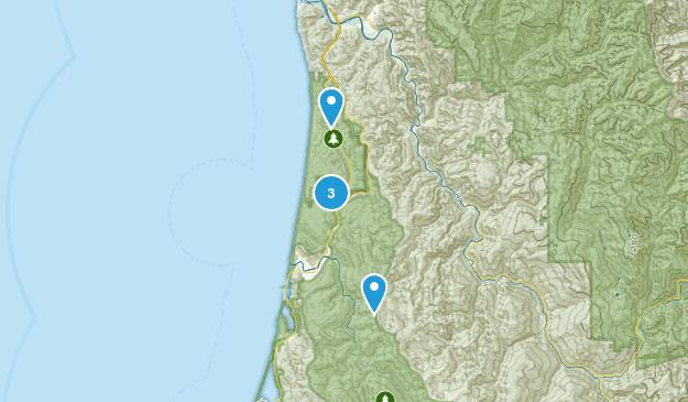 Orick, California Mountain Biking Map