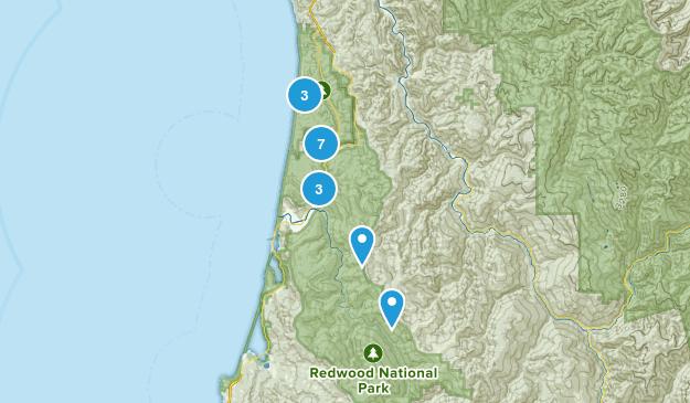 Orick, California Trail Running Map