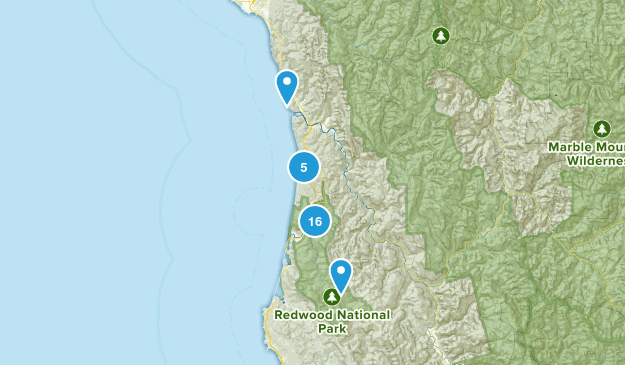Orick, California Views Map