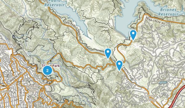 Orinda, California Lake Map