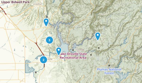 Oroville, California Birding Map