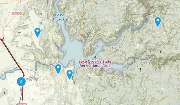 Oroville, California Dogs On Leash Map