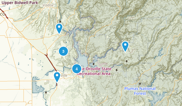 Oroville, California Hiking Map