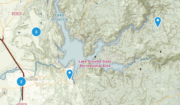 Oroville, California Nature Trips Map